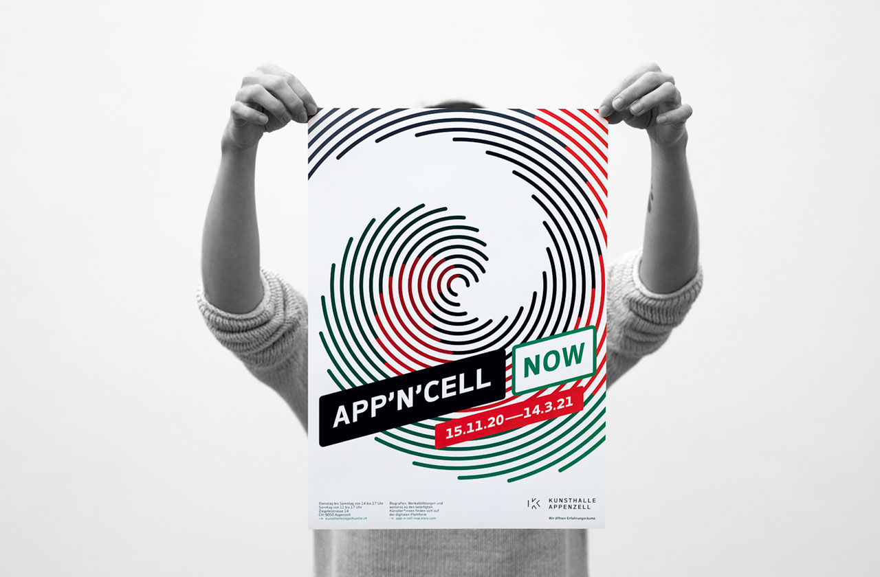 «Corporate Design APP'N'Cell NOW» Kunsthalle Appenzell · 2020